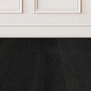 Ebony-black-wood-floor-sample-on-white-wall
