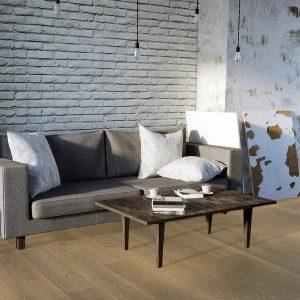 Brown Wood Flooring - Hook Living Room