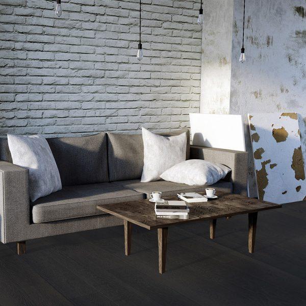 Trench Sample - Black Hardwood Flooring