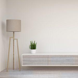 Serrated Ivory Room – Light Grey Hardwood Flooring