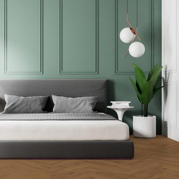 Vermont Bedroom – Brown Hardwood Flooring