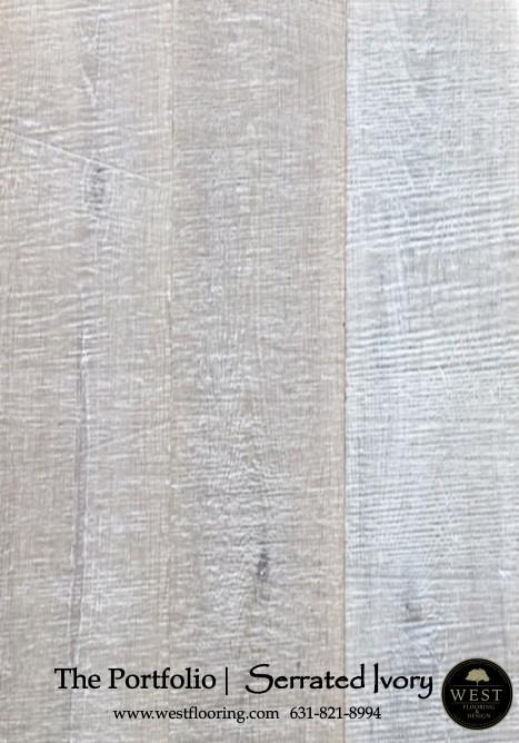 White Wood Flooring Serrated Ivory