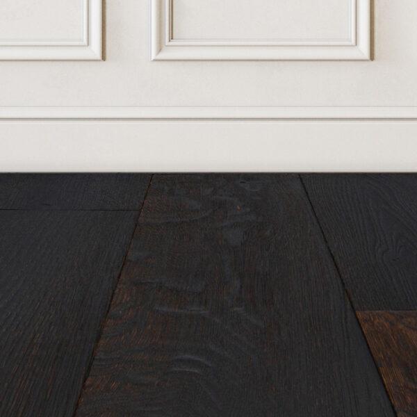 Nightshade black hardwood floor color