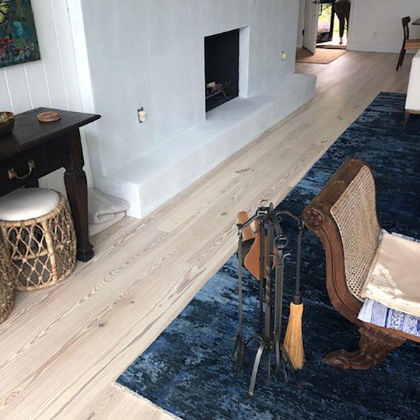 Snowdrop on Heart Pine – Light Hardwood Flooring