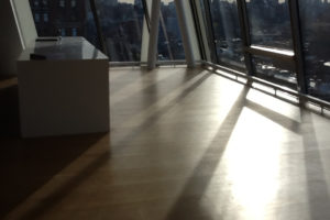 Desk Sunset view High Line 23 NYC Natural Wood Floor