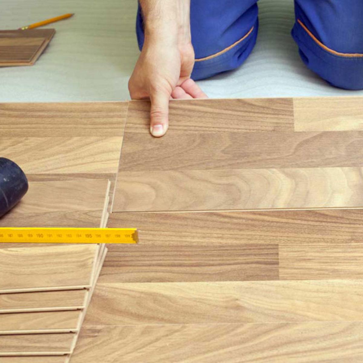 hardwood floor installation services job site