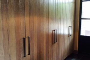 custom wood closet doors