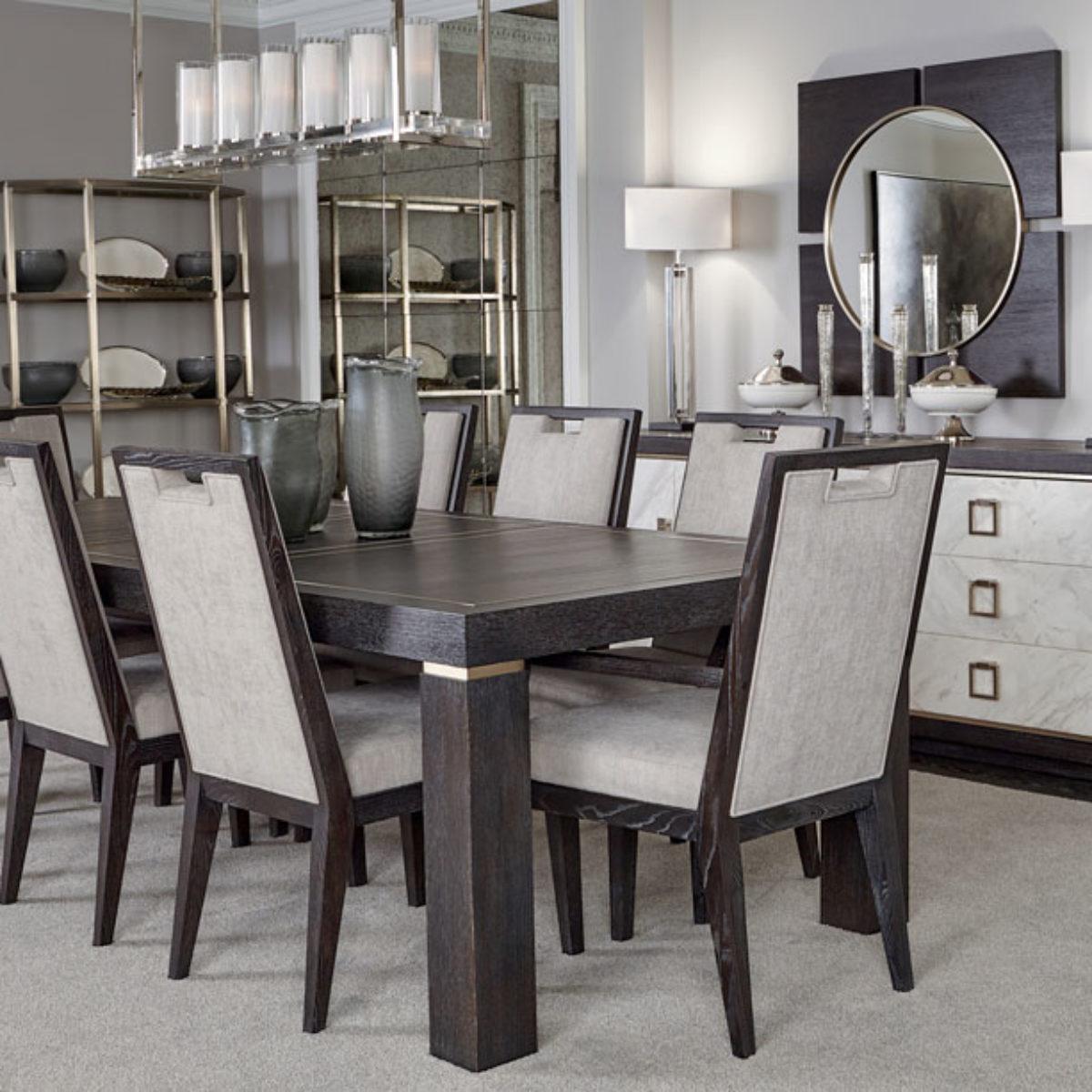Table Bernhardt Project White Wood Floor