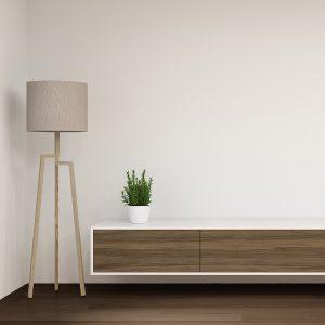 Harbor Room – Brown Hardwood Flooring and Cabinets