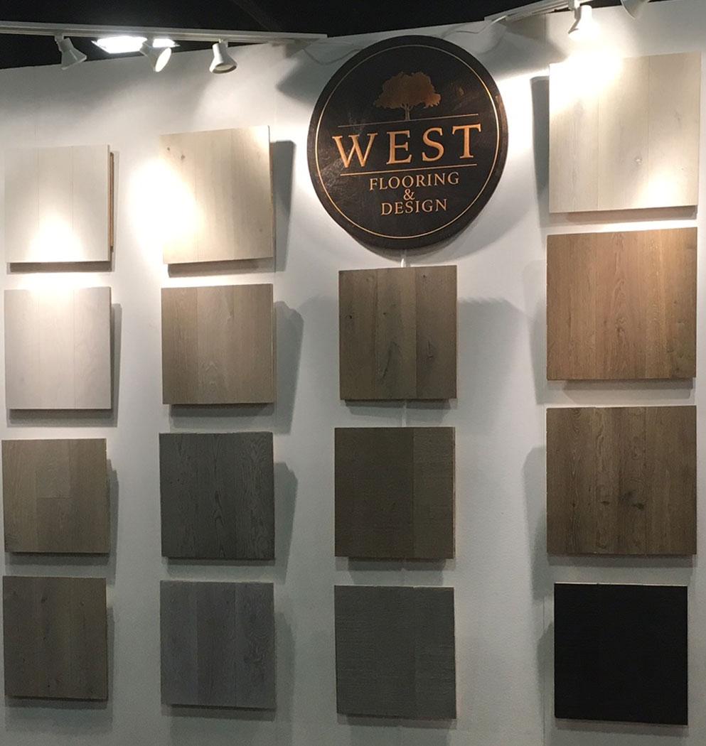 Portfolio Hardwood Color Collection Showroom wall