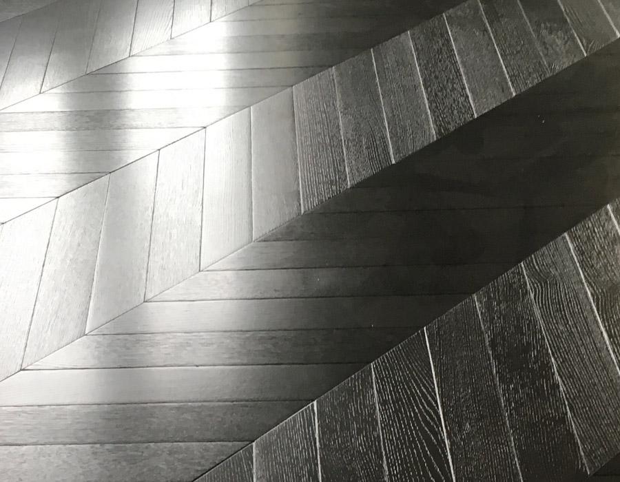 Black flooring.