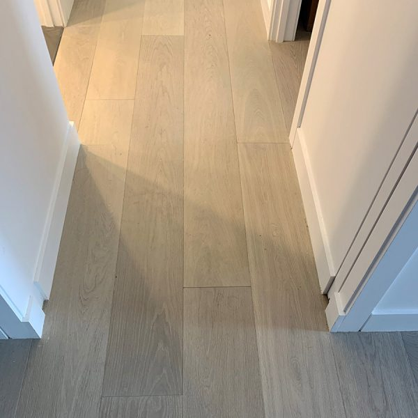 "Moonstone on European Oak, Prime Grade, 8.5"" wide planks"
