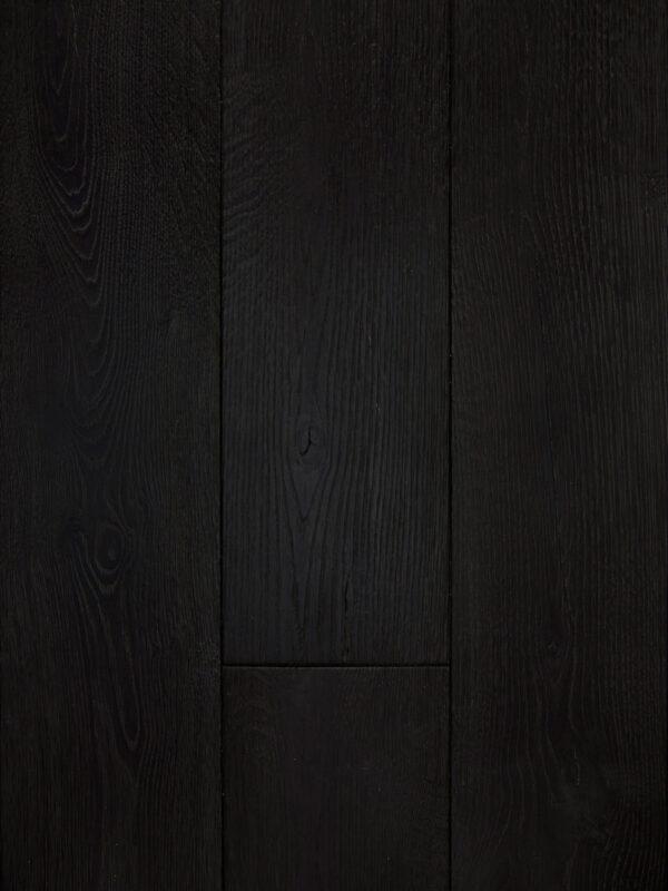 black wood floor panel color raven