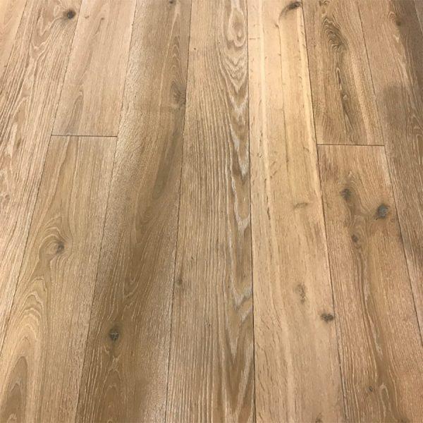 "Sunstone on European Oak, Character Grade, 7"" wide planks"