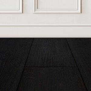 Raven black hardwood floor color
