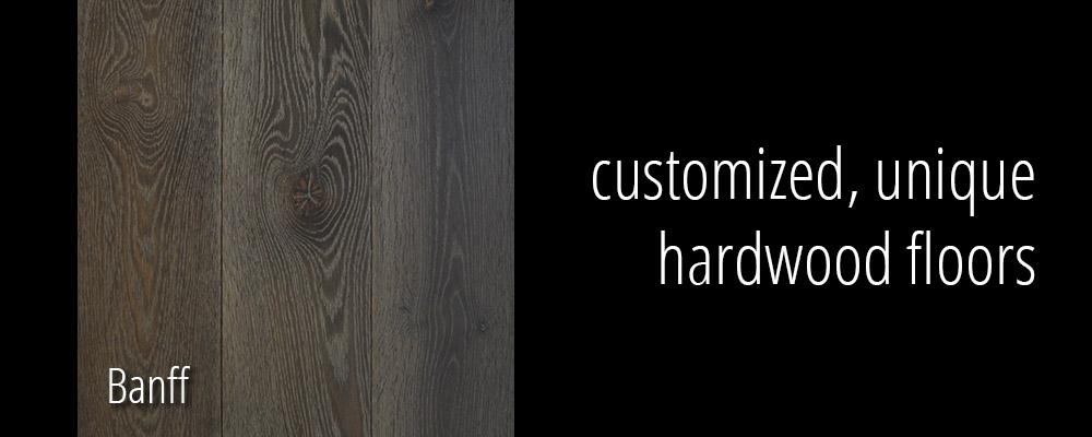 Customized, unique hardwood floors in Banff.