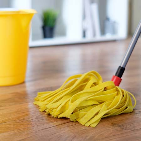Monthly Cleaning of Hardwood Floors