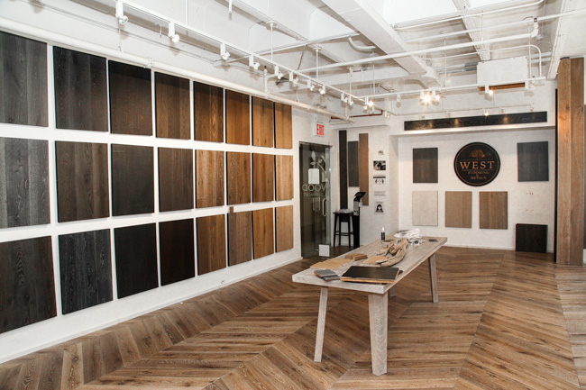 west wood nyc flooring showroom interior