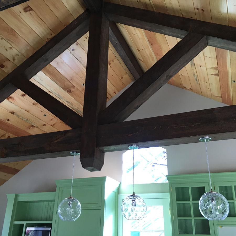 dark wood beams
