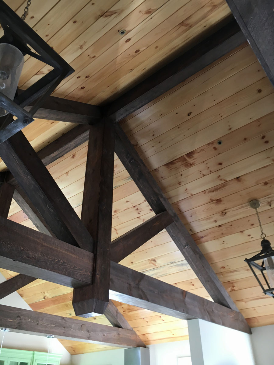 decorative wood brown beams