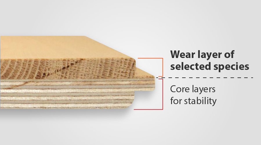 engineered wood floor wear layer description