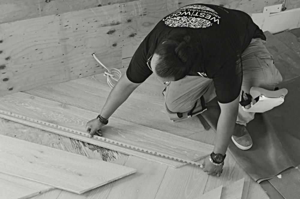 measuring custom floor west wood