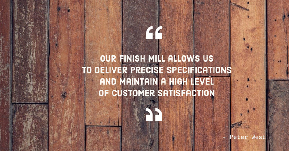 peter west quote on finish mill